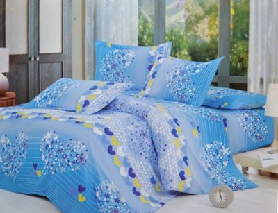 Heart Flower Pattern Half Set Bedding Double Duvet Cover