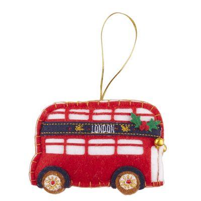 Felt London Bus Christmas Tree Decoration -CA4631