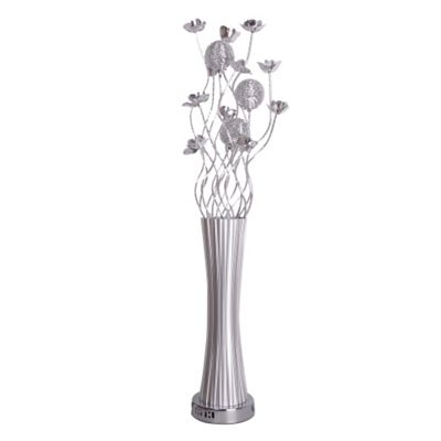 Old fashioned floor flower lamp gift home floor plans suchcrutex buy aluminium flower floor lamp silver from our floor lamps range aloadofball Gallery