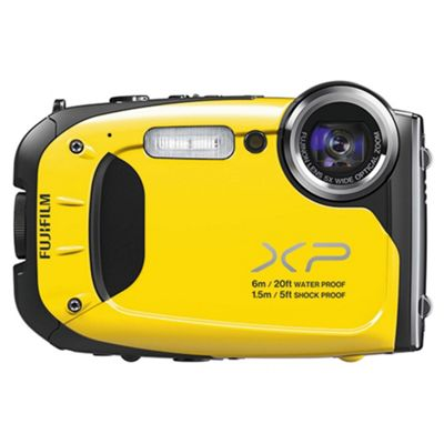 Fujifilm XP60 Tough Digital Camera, Yellow, 16 MP, 5x Optical Zoom, 2.7 inch LCD screen