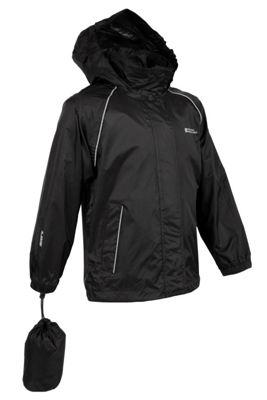 Pakka Kids Fold Pack Away Waterproof Jacket Walking Hiking Rain Coat In Bag