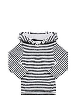 F&F Striped Hoodie - White & Navy