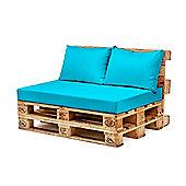 Turquoise Back Fibre Printed Pallet Cushions Hollowfibre Garden Patio