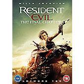 Resident Evil: The Final DVD