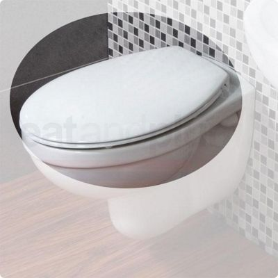RAK Compact Mini Plastic Toilet Seat for Wall Hung Pan