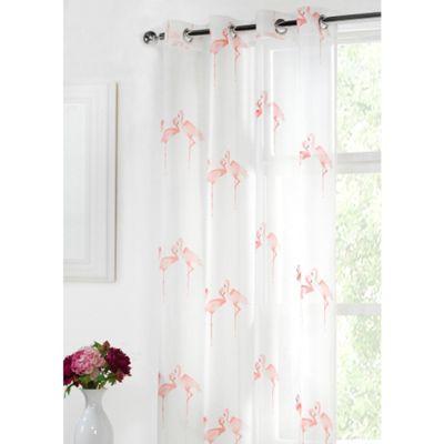 Hamilton McBride Flamingo Eyelet Pink Voile - 55x90 Inches (140x229cm)