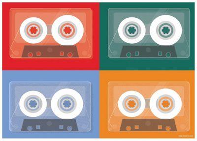 Cassette Quad Mini Poster 44x32cm,