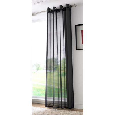 Alan Symonds Plain Black Single Voile - 58x90 Inches (147x229cm)