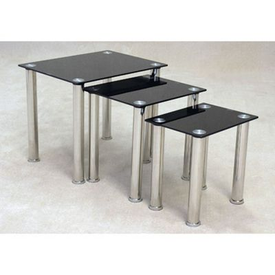 Ideal Furniture Nest Table Set in Black