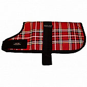 Outhwaites Padded Dog Coat - Red Tartan 30cm