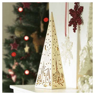 Festive Wooden Pyramid Christmas Room Decoration