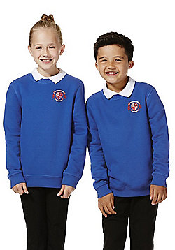 Unisex Embroidered School Sweatshirt with As New Technology - Royal blue