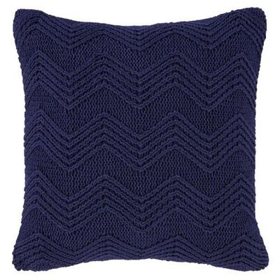 Bianca Cotton Soft Knit Cushion Cover - Navy