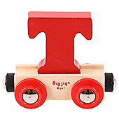 Bigjigs Rail Rail Name Letter T (Red)