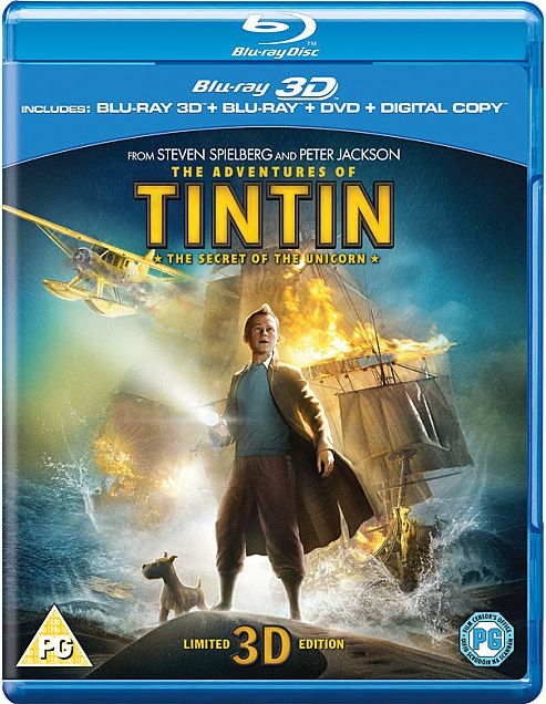 The Adventures Of Tintin - The Secret Of The Unicorn (3D Blu-Ray)