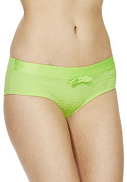 Marie Meili Square Textured Bikini Shorts - Green