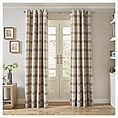 Tesco Check Curtains -  - - Grey