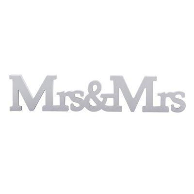 A Vintage Affair Mrs & Mrs Wooden Wedding Sign