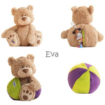 Buddy Ball Plush Mocha Coloured Bear Eva