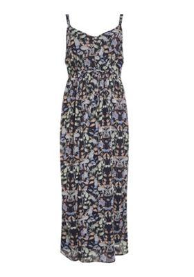 Junarose Floral Print Plus Size Maxi Dress Navy Multi 20