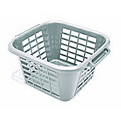 Addis Square Laundry Basket, 24L, Metallic Finiish