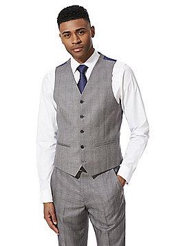 F&F Checked Regular Fit Waistcoat - Grey