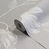 Crown Florence Grey/White Wallpaper
