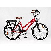 RooDog Polka Dot Electric Bike 10Ah Step Through Red Frame