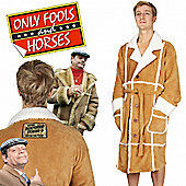 Only Fools and Horses Del Boy Dressing Gown - Brown