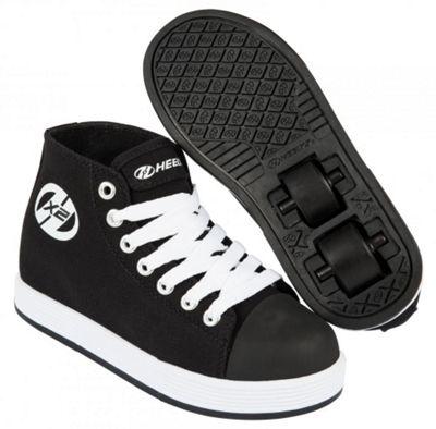Heelys Fresh Hi Top Black/White Kids Heely X2 Shoe UK 1