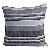 Homescapes Morocco Cotton Striped Monochrome Prefilled Cushion, 60 x 60 cm