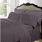 Highams Highams 100% Egyptian Cotton Plain Dye Housewife Pillow Case 230 Thread Count - Purple