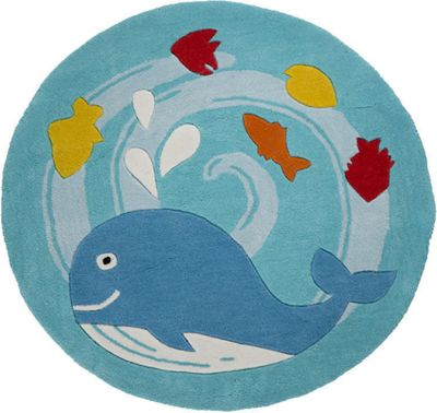 Whale, Circular Rug - 90 cm