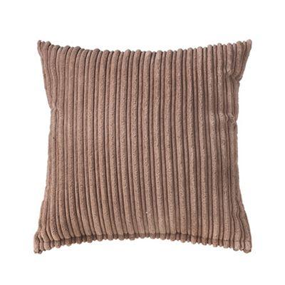 Mocha Jumbo Cord Cushion 24