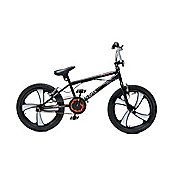 "XN-4 20"" Freestyle 4 Spoke Mag Wheel BMX Bike Black/White Adult & Kids"