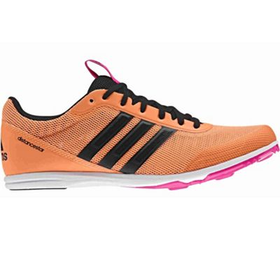 adidas Distancestar Womens Running Spike Trainer Shoe Orange - UK 8