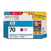 Hewlett-Packard No.70 Colour Ink Cartridge (130ml) with Vivera Ink - Magenta