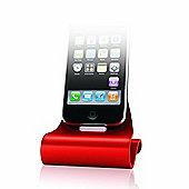 Konnet iCrado PLUS Charging Dock - Red - Apple