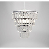 Country Club Clear Gem Chandelier