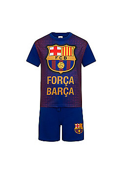 FC Barcelona Boys Short Pyjamas - Blue