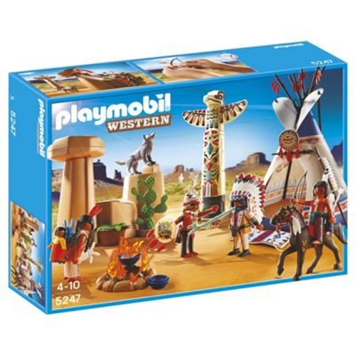 Playmobil Native American Camp with Totem Pole