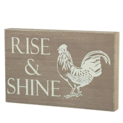 Rise And Shine Wooden Sign