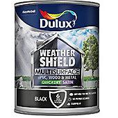 Dulux Weathershield Multi Surface Paint - Black - 750ml