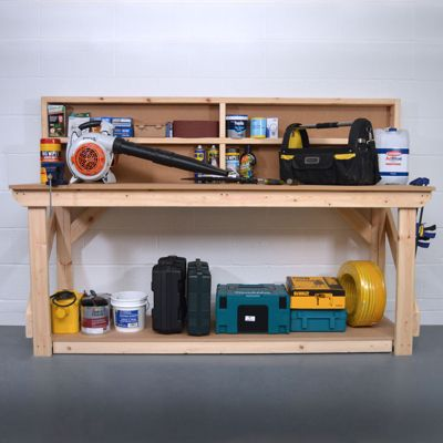 MDF Wooden Work Bench With Back Panel 6ft