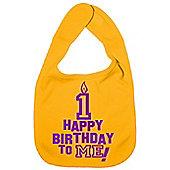 Dirty Fingers Happy 1st Birthday to me! Baby Bib Yellow