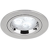 Aurora GU10 Aluminium Fixed Lock Ring Halogen light - Polished Chrome