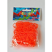 Rainbow Loom Neon Orange 300 Bands - Arts and Crafts