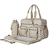 OiOi Carry All Nappy Change Bag - Oxford Tan Eclipse Dot Carry All (6683)