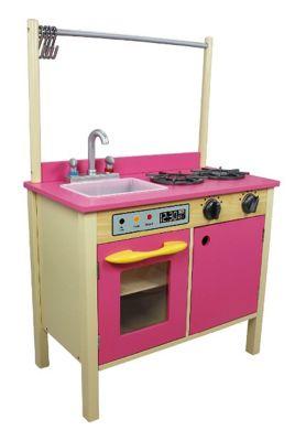 Teamson Kids Wooden Kitchen Bubblegum