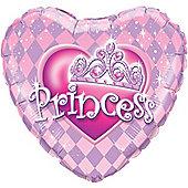 Heart Princess Tiara Balloon - 18 inch Foil